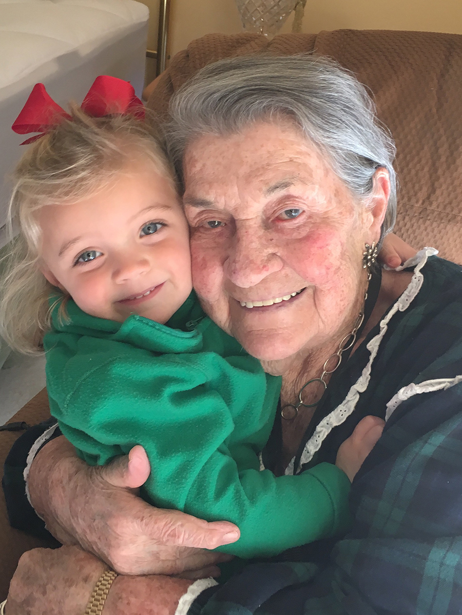 Grete Horn with her granddaughter and namesake
