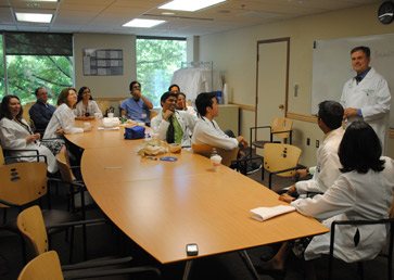 Dr. Paul Foster teaching Internal Medicine Residents