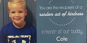 Giving Back to Honor Cole