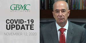 November 12: COVID-19 Update with President and CEO, John B. Chessare, MD, MPH
