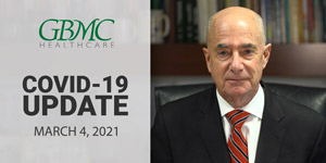 March 4: COVID-19 Update with President and CEO, John. B. Chessare, MD, MPH
