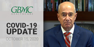 October 15: COVID-19 Update with President and CEO, John B. Chessare, MD, MPH