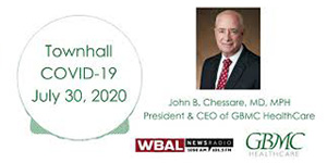 Dr. Chessare Discuses COVID-19 with WBAL News Radio - July 30, 2020