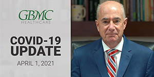 April 1: COVID-19 Update with President and CEO, John B. Chessare, MD, MPH