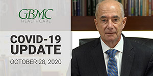 October 28: COVID-19 Update with President and CEO, John B. Chessare, MD, MPH