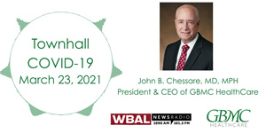 Dr. John Chessare WBAL COVID-19 Townhall - March 23, 2021