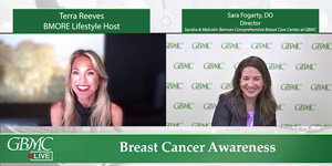Dr. Sara Fogarty Discusses Breast Cancer on BMORE Lifestyle