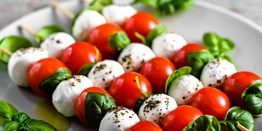 Caprese Skewers with Aged Balsamic