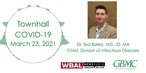 Dr. Theodore Bailey WBAL COVID-19 Townhall - March 23, 2021